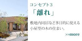 コンセプト3 離れ 敷地内同居など多目的に使える 小屋型の木の住まい